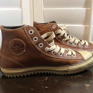 Converse Chucks- Brown Leather All Star High Tops
